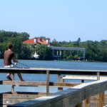 Guy on dock